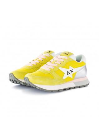 damen sneakers sun68 gelb silber