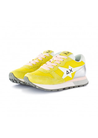 women's sneakers sun68 yellow silver