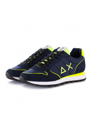 men's sneakers sun68 blue yellow
