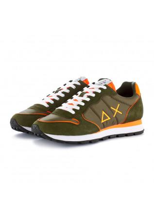 sneakers uomo sun68 verde arancione