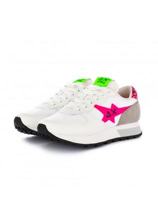 damen sneakers sun68 weiss fuchsia