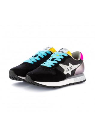 damen sneakers sun68 glitter schwarz