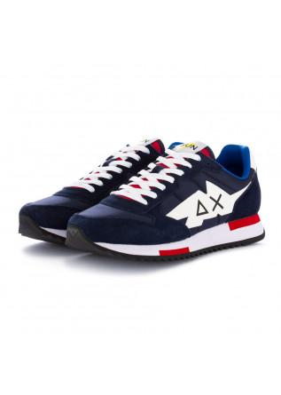 sneakers uomo sun68 blu navy rosso