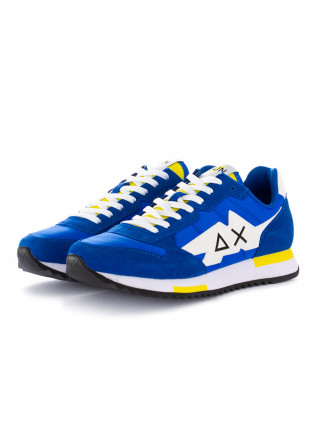 sneakers uomo sun68 blu royal giallo