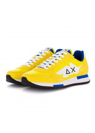 men's sneakers sun68 niki solid yellow fluorescent
