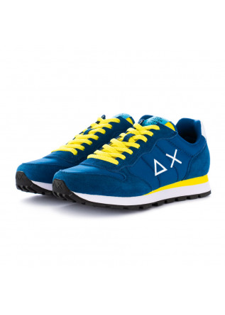 herren sneakers sun68 tom solid blau gelb