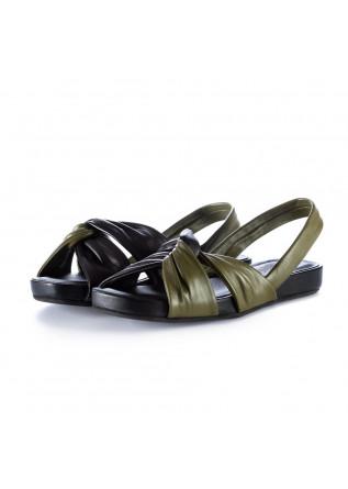 sandali donna ton gout nero verde militare