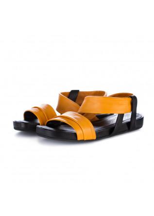 sandali donna ton gout arancione nero