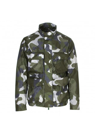 giacca uomo save the duck verde camouflage
