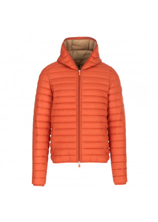 men's puffer jacket save the duck orange
