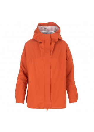 women's jacket save the duck orange