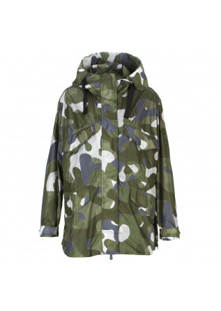 giacca donna save the duck verde camouflage