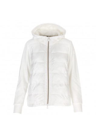 women's puffer sweatshirt save the duck white