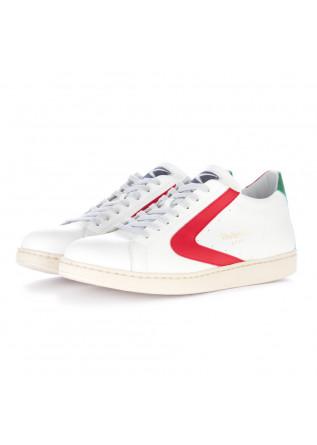 men's sneakers valsport white red italian flag
