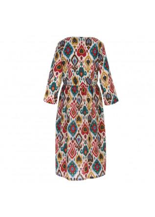 WOMEN'S DRESS FRANCESCA BASSI | JAIPUR PAISLY BEIGE MULTICOLOR