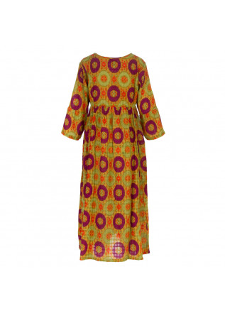 WOMEN'S DRESS FRANCESCA BASSI | BOMBAY IKAT GREEN PURPLE