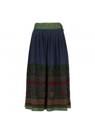 skirt francesca bassi blue green