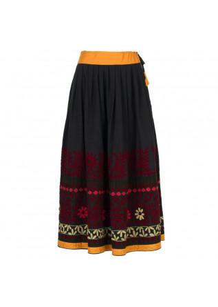 skirt francesca bassi black multicolor