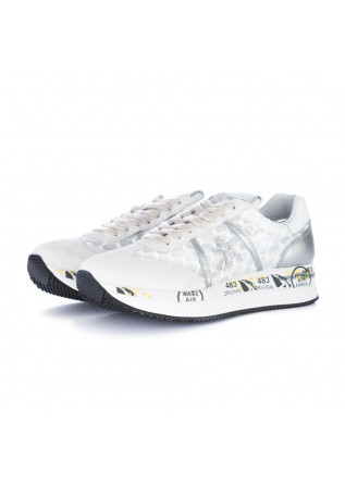 sneakers donna premiata conny bianco argento