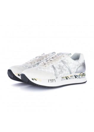 women's sneakers premiata conny white silver