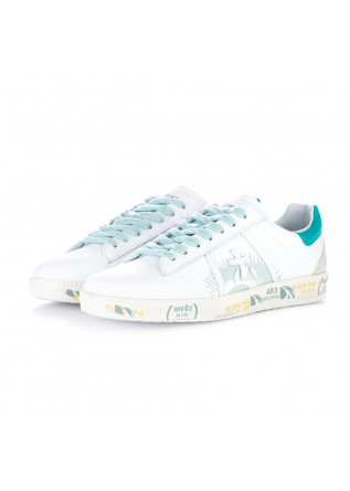 women's sneakers premiata andy white turquoise