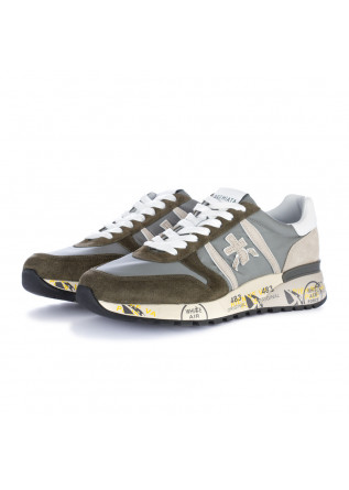 men's sneakers premiata lander grey green
