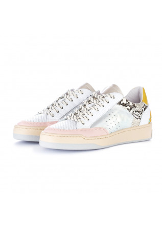 sneakers donna ago bianco argento multicolor