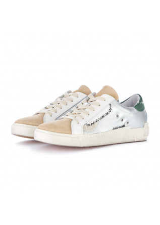 sneakers donna ago beige argento