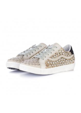 sneakers donna ago beige glitter platino