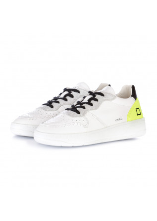 sneakers donna date court fluo bianco