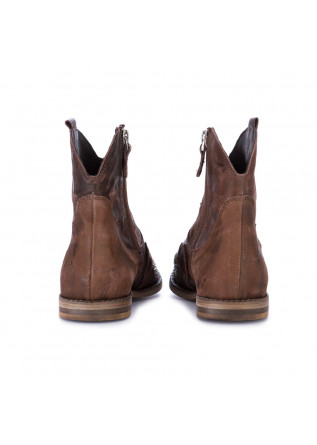 WOMEN'S COWBOY ANKLE BOOTS JUICE | OYSTER BROWN