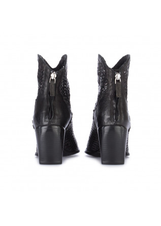 WOMEN'S COWBOY ANKLE BOOTS JUICE | INTRECCIO PARKER BLACK