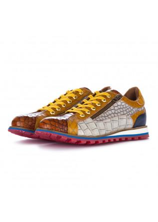 men's flat shoes lorenzi fresh brown yellow