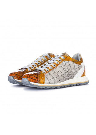 scarpe allacciate donna lorenzi fresh marrone argento