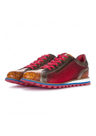 scarpe allacciate uomo lorenzi fresh rosso