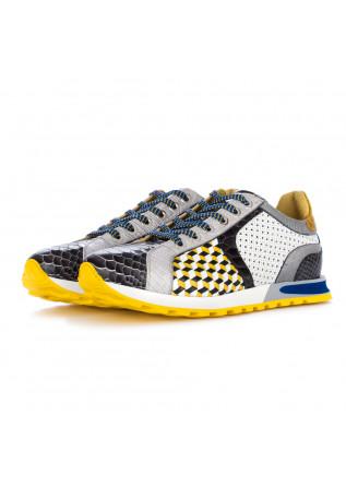 sneakers uomo lorenzi anaconda nero giallo