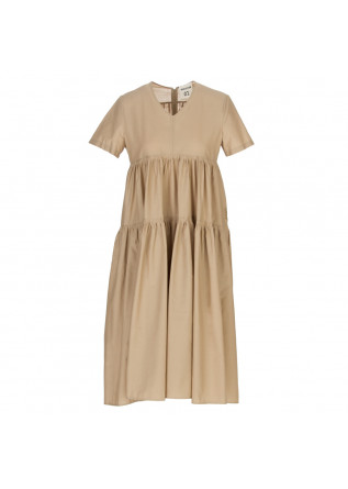 women's dress semicouture beige long
