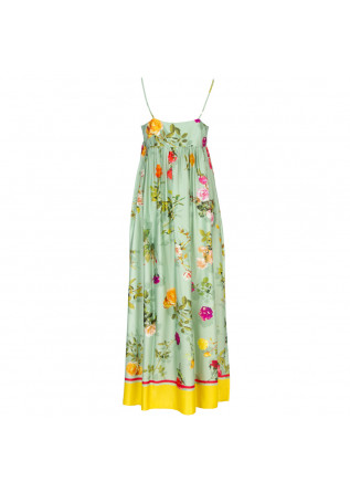 WOMEN'S DRESS SEMICOUTURE | Y1ST34 GREEN MULTICOLOR