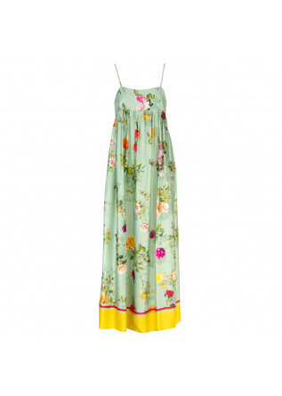 women's dress semicouture green flowers