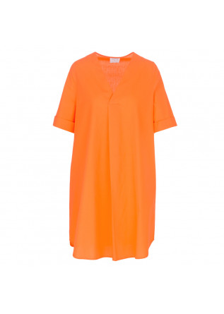 damenkleid 1978 fluoreszierend orange