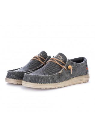 scarpe basse uomo hey dude wally braided grigio