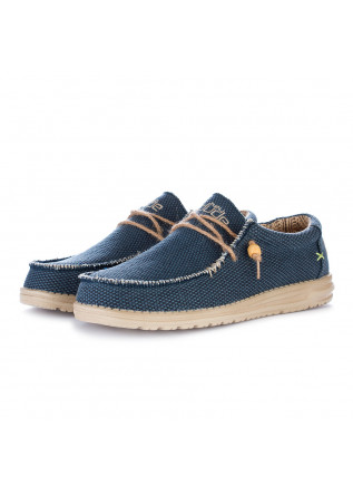 scarpe basse uomo hey dude wally braided blu