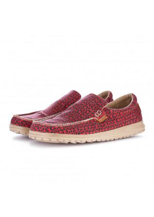 scarpe basse uomo hey dude mikka print rosso
