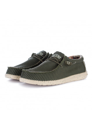 men's flat shoes hey dude wally sox green