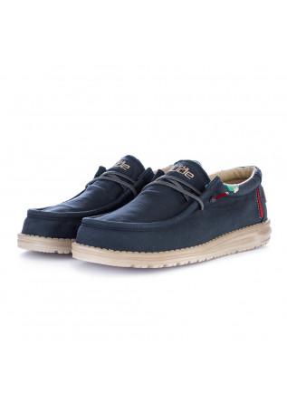 scarpe basse uomo hey dude wally washed blu