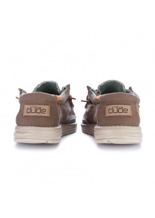 MEN'S FLAT SHOES HEY DUDE SHOES | WALLY WASHED BROWN