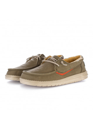 scarpe basse uomo hey dude welsh washed verde