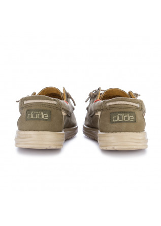 MEN'S FLAT SHOES HEY DUDE SHOES |  WELSH WASHED GREEN