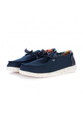 women's flat shoes hey dude wendy blue