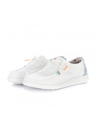 women's flat shoes hey dude wendy boho white